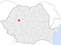 Amplasarea orasului Abrud in cadrul Romaniei