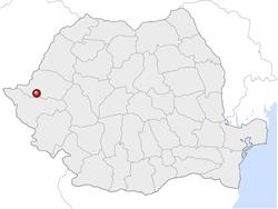 Amplasarea orasului Arad in cadrul Romaniei