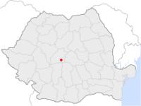 Amplasarea orasului Avrig in cadrul Romaniei