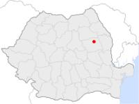 Amplasarea orasului Bacău in cadrul Romaniei
