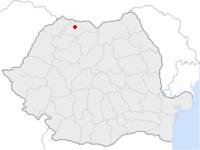 Amplasarea orasului Baia Sprie in cadrul Romaniei