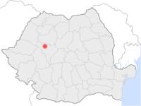Amplasarea orasului Baia de Arieș in cadrul Romaniei