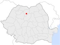 Amplasarea orasului Bistrița in cadrul Romaniei