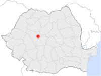 Amplasarea orasului Blaj in cadrul Romaniei