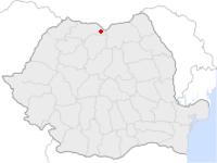 Amplasarea orasului Borșa in cadrul Romaniei