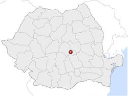 Amplasarea orasului Brașov in cadrul Romaniei