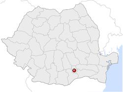 Amplasarea orasului București in cadrul Romaniei