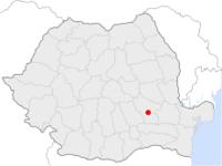 Amplasarea orasului Buzău in cadrul Romaniei