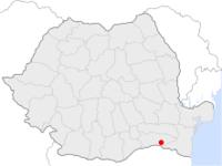 Amplasarea orasului Călărași in cadrul Romaniei