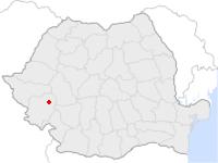 Amplasarea orasului Caransebeș in cadrul Romaniei