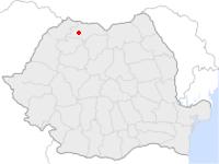 Amplasarea orasului Cavnic in cadrul Romaniei