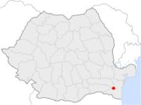 Amplasarea orasului Cernavodă in cadrul Romaniei