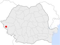 Amplasarea orasului Ciacova in cadrul Romaniei