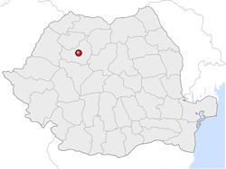 Amplasarea orasului Cluj-Napoca in cadrul Romaniei
