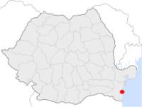 Amplasarea orasului Constanța in cadrul Romaniei
