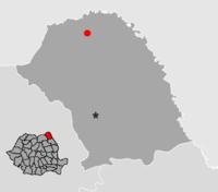Amplasarea orasului Darabani in cadrul Romaniei