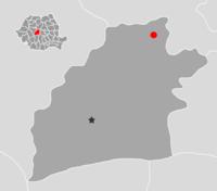 Amplasarea orasului Dumbrăveni in cadrul Romaniei