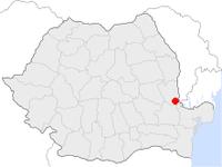 Amplasarea orasului Galați in cadrul Romaniei