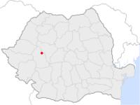 Amplasarea orasului Geoagiu in cadrul Romaniei