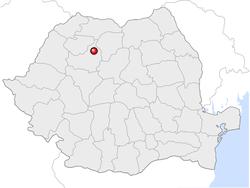 Amplasarea orasului Gherla in cadrul Romaniei