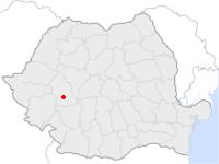 Amplasarea orasului Hațeg in cadrul Romaniei