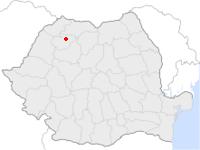 Amplasarea orasului Jibou in cadrul Romaniei