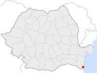 Amplasarea orasului Mangalia in cadrul Romaniei