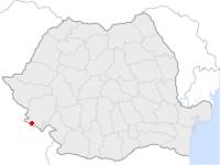 Amplasarea orasului Moldova Nouă in cadrul Romaniei