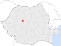 Amplasarea orasului Ocna Mureș in cadrul Romaniei