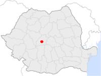 Amplasarea orasului Ocna Sibiului in cadrul Romaniei