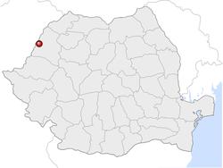 Amplasarea orasului Oradea in cadrul Romaniei