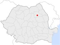 Amplasarea orasului Piatra Neamț in cadrul Romaniei