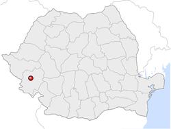 Amplasarea orasului Reșița in cadrul Romaniei