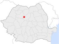 Amplasarea orasului Sărmașu in cadrul Romaniei