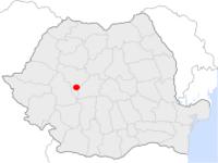 Amplasarea orasului Sebeș in cadrul Romaniei