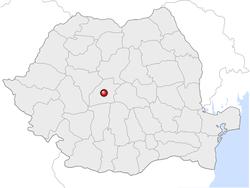 Amplasarea orasului Sibiu in cadrul Romaniei
