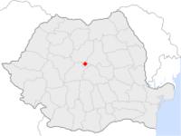 Amplasarea orasului Sighișoara in cadrul Romaniei
