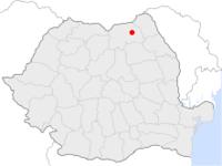Amplasarea orasului Suceava in cadrul Romaniei