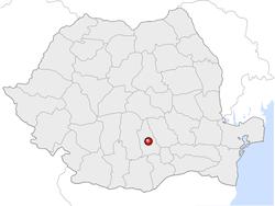 Amplasarea orasului Târgoviște in cadrul Romaniei