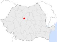 Amplasarea orasului Târnăveni in cadrul Romaniei