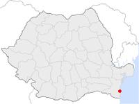 Amplasarea orasului Techirghiol in cadrul Romaniei