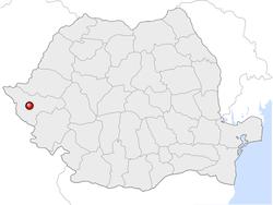 Amplasarea orasului Timișoara in cadrul Romaniei