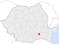 Amplasarea orasului Urziceni in cadrul Romaniei