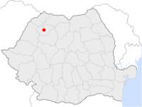 Amplasarea orasului Zalău in cadrul Romaniei