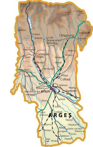 Harta judetului Argeș