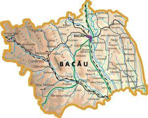 Harta judetului Bacău