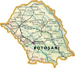Harta judetului Botoșani