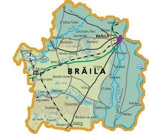 Harta judetului Brăila