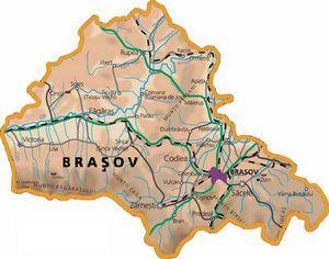 Harta judetului Brașov