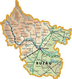 Harta judetului Buzău